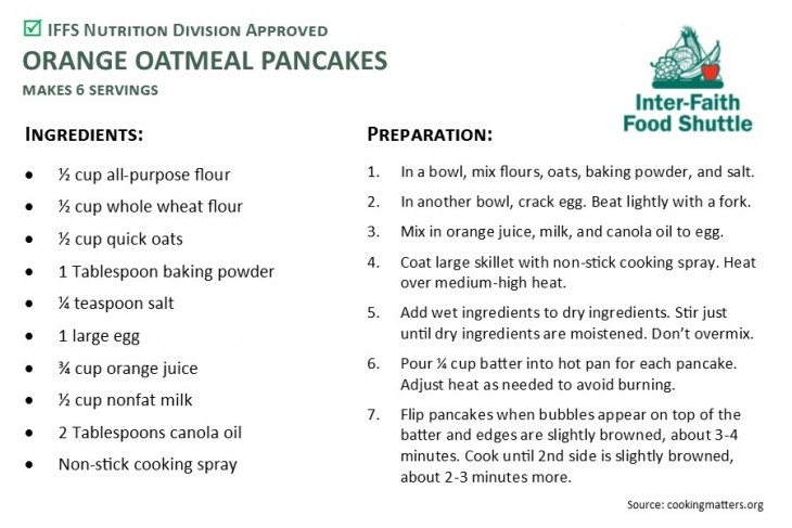 ORANGE OATMEAL PANCAKES