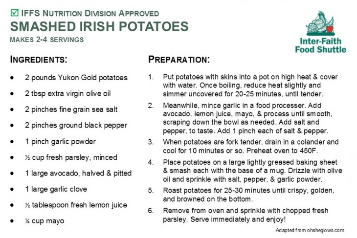 Smashed Irish Potatoes