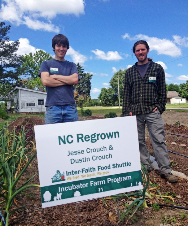 IFFS Incubator Farmers Dustin and Jesse Crouch (brothers) of NC Regrown