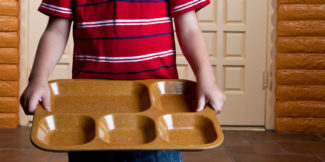 empty lunch tray