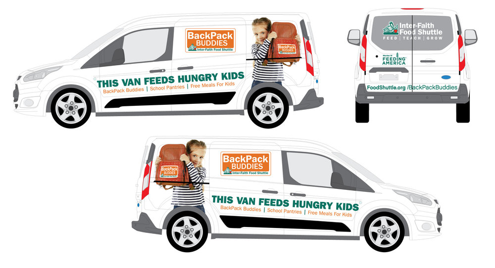 Designs for our new generously donated BackPack Buddies van!