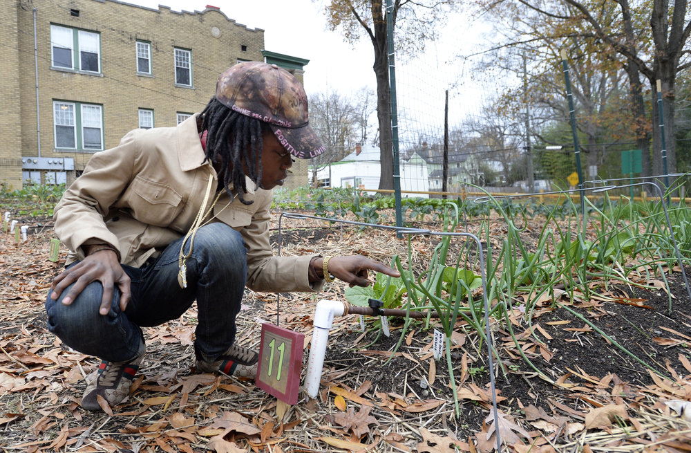 Taye at the Geer Street Learning Garden