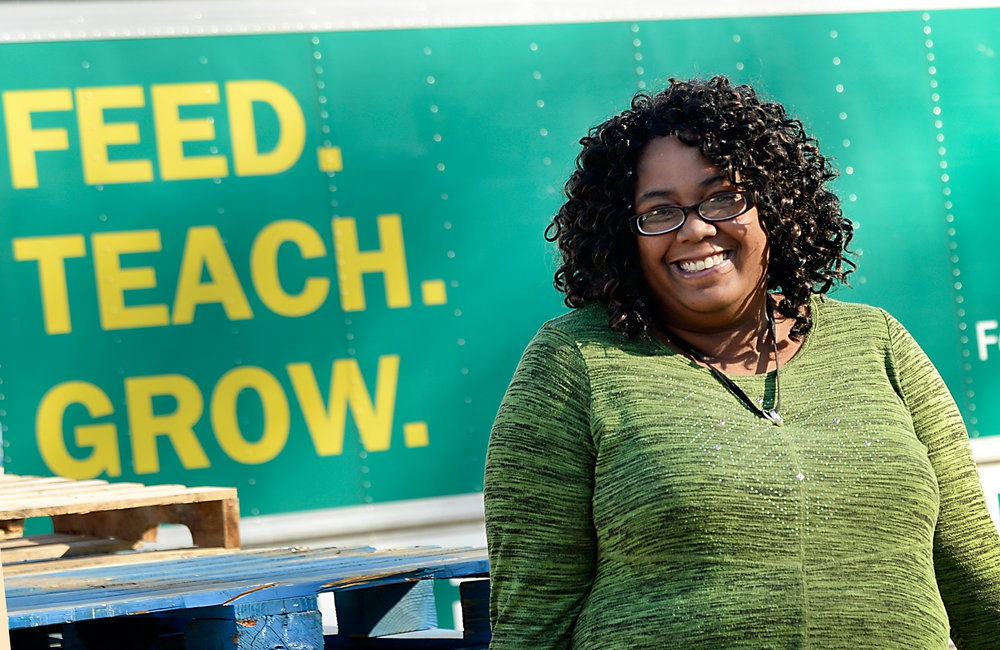 Inter-Faith Food Shuttle's Fostering Wellness graduate Kim Greehy December 14, 2017 in Raleigh, N.C. (Photo by Sara D. Davis)