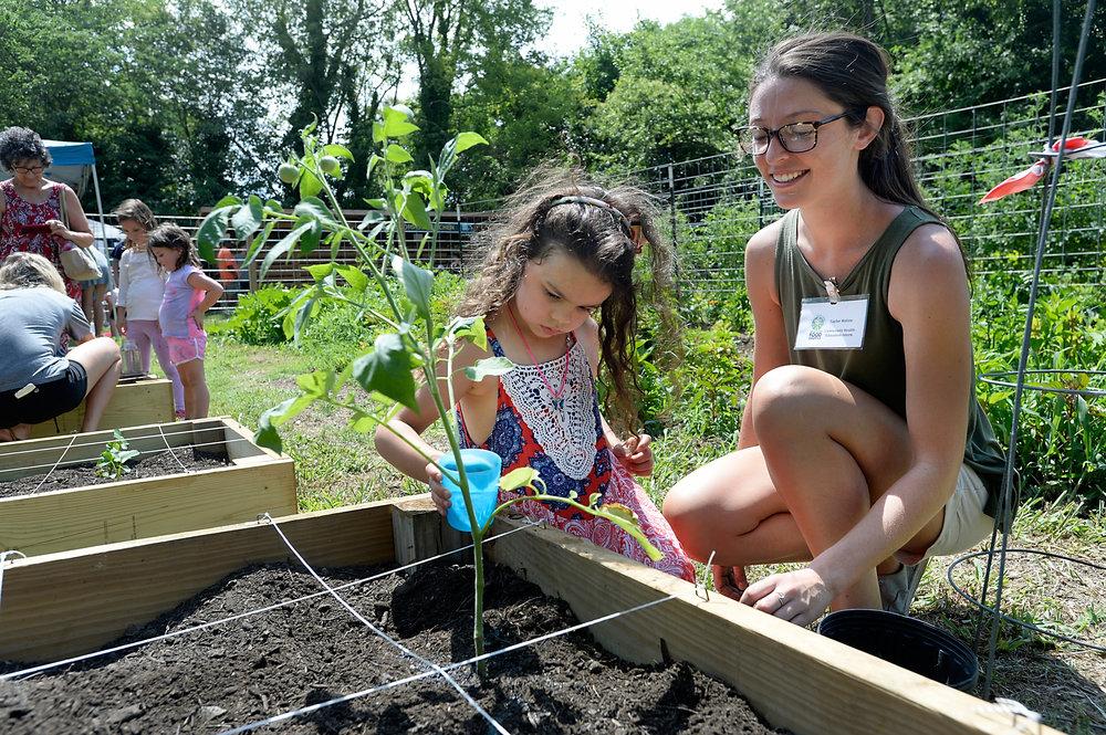 Inter-Faith Food Shuttle's Camden Street Learning Garden's Garden Get Down on June 23, 2018. (Photo by Sara D. Davis for IFFS)