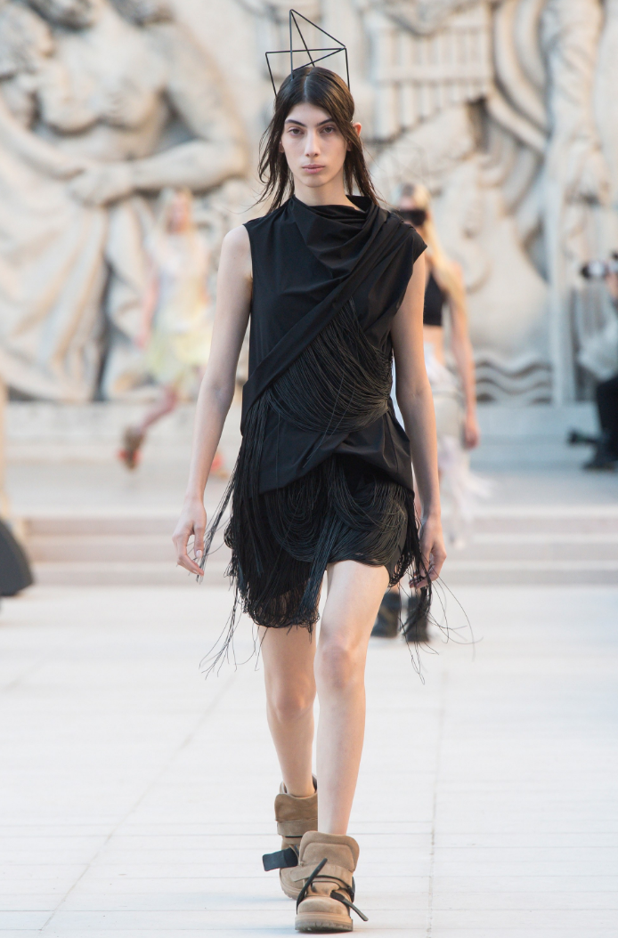 Oyku Bastas - Runway. Click on image to see the full Rick Owens runway show.