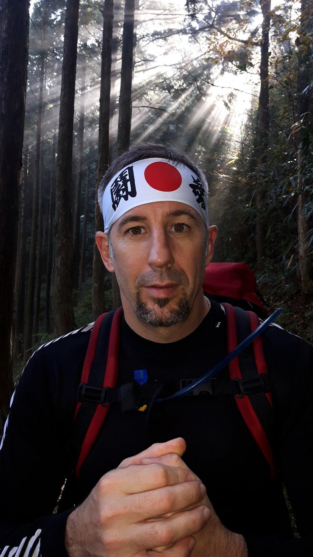 Mark Wood in Japan traversing the 1000 year old Kumano Kodo