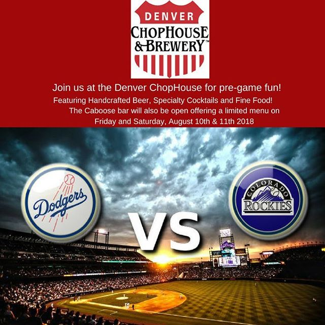 Going to the Rockies/Dodgers game this weekend? We're always serving Fine Food, Craft Beer and Specialty Drinks!  #denverchophouse #chophouse #brewery #denverfood #denvereats #downtown #denvercolorado #denver #craftbeer #rockiesbaseball