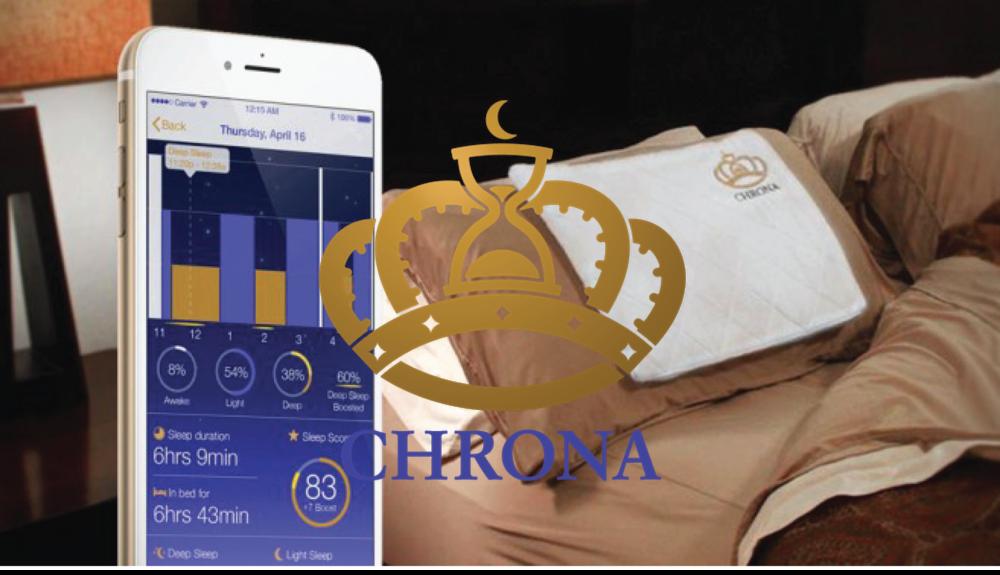 Chrona Sleep's proprietary sleep therapy technology applies acoustic neuromodulation to enhance sleep in real time.    LEARN     MORE