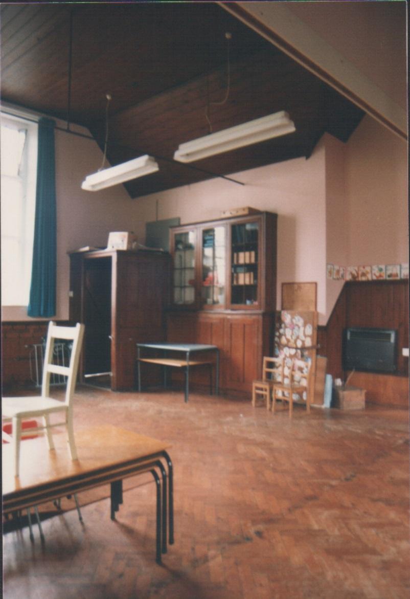 Old schoolroom looking West.