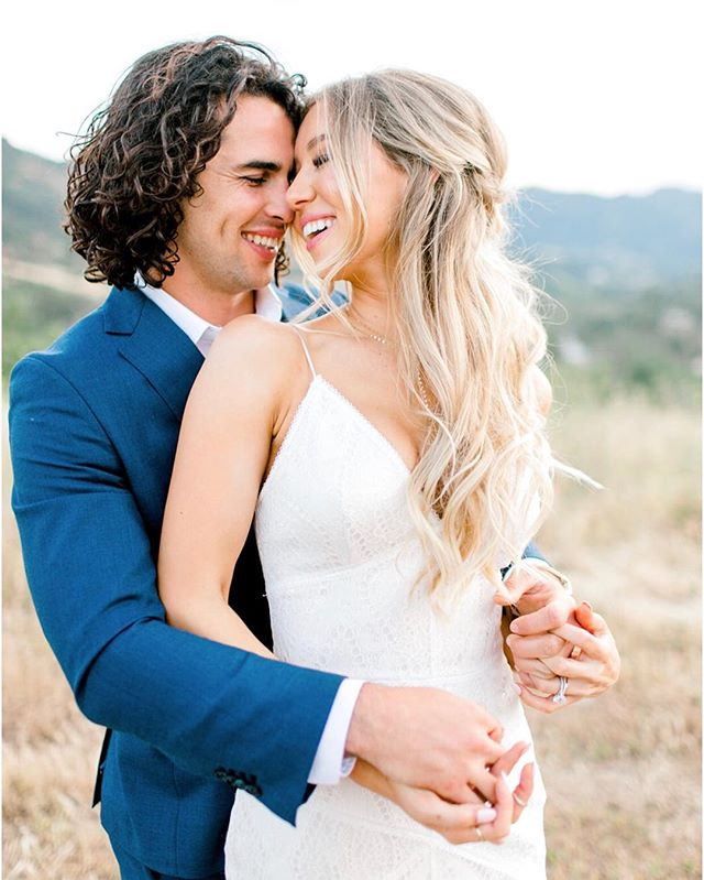 Most beautiful people with the kindest hearts 🥰🥰🥰 @meggoleggos25 @pmuscky55 | Photo @brooke_borough | Design @karen_marie_events | Venue @brookviewranch | Dress @bertabridal | Makeup @beautybyalessi | Hair by Jenny @blushing.beauty