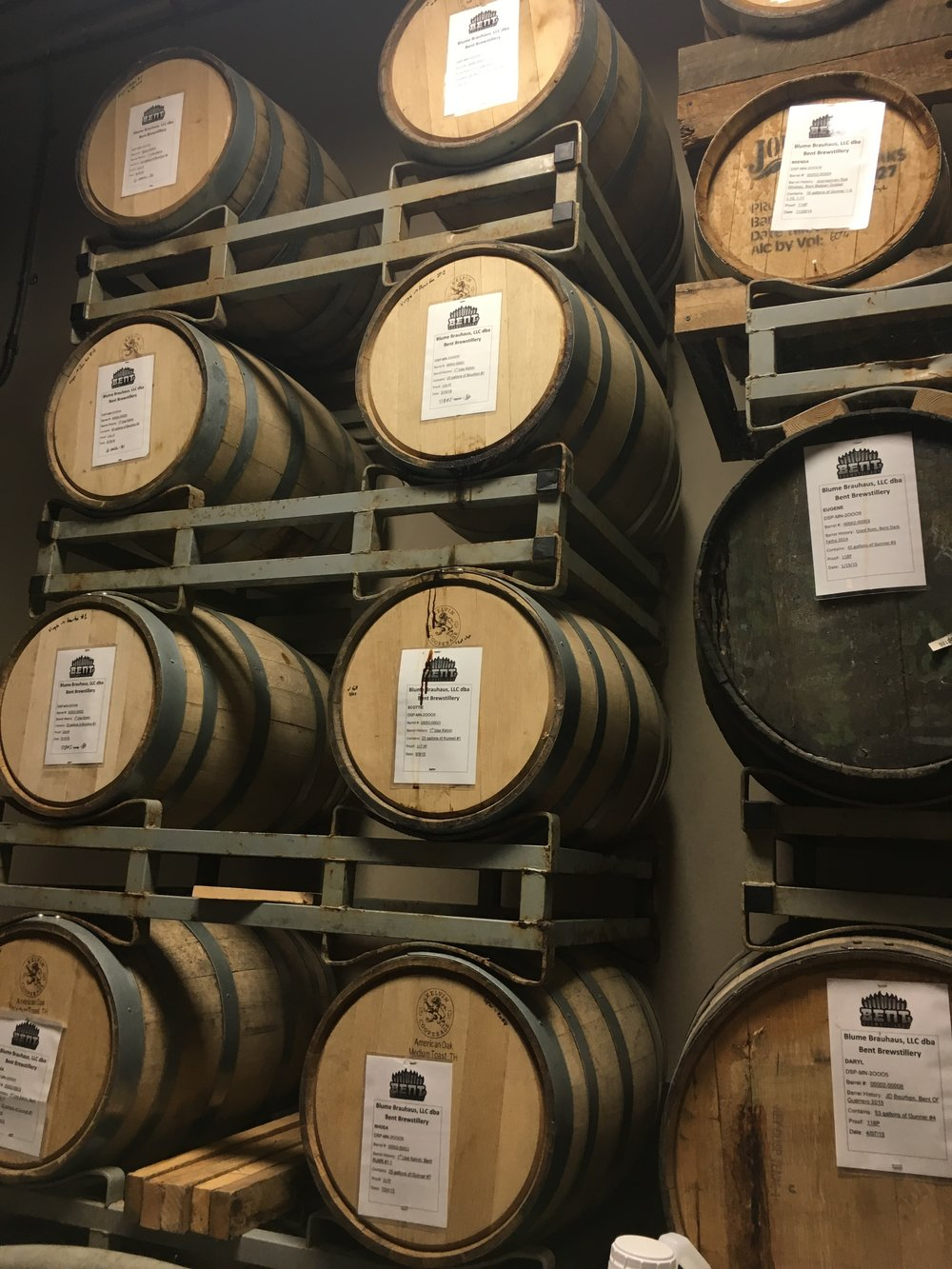 Barrels in the aging process