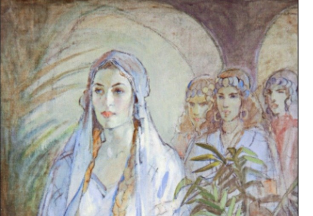 'Esther', Minerva Teichert -  Women in the Bible