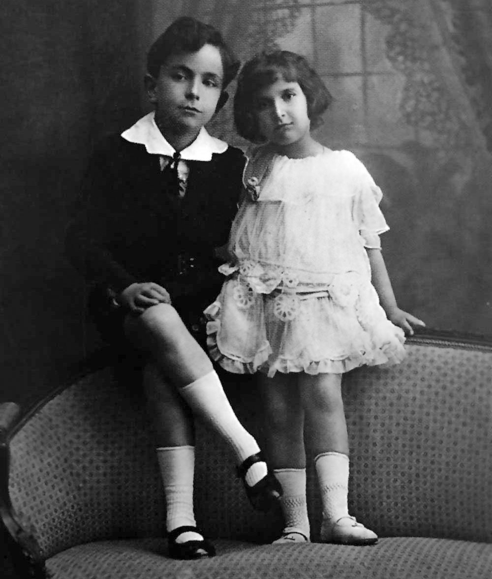 Hedda and her brother Eduard Lindenberg, c. 1914