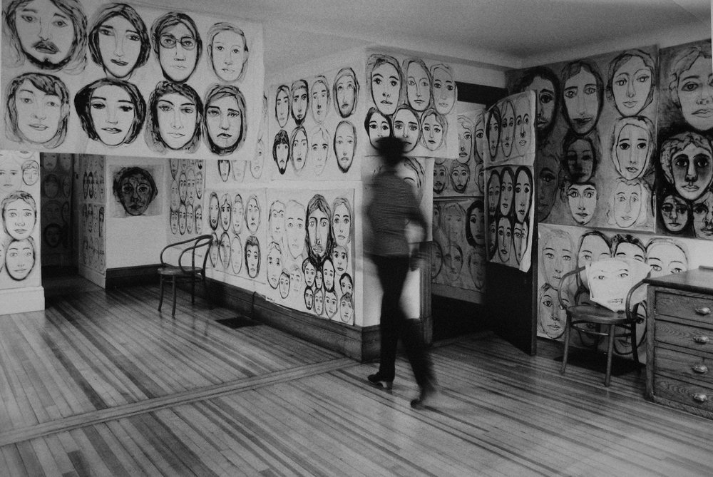 "Hedda Sterne's ""Everyone"" series installed in her home in 1969 