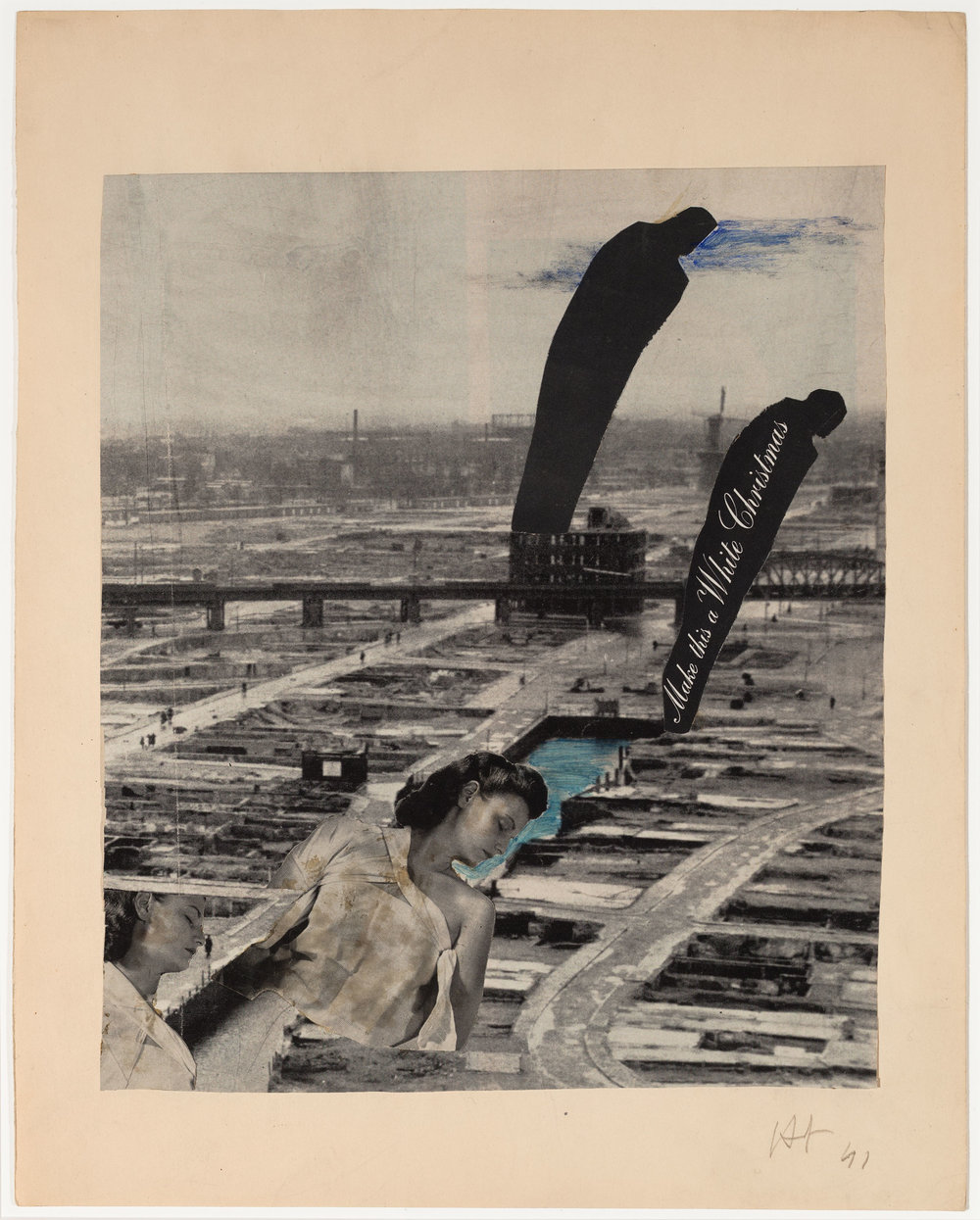 Hedda Sterne,  Untitled , 1941, Collage, 14 3/4 in. x 11 3/4 in.