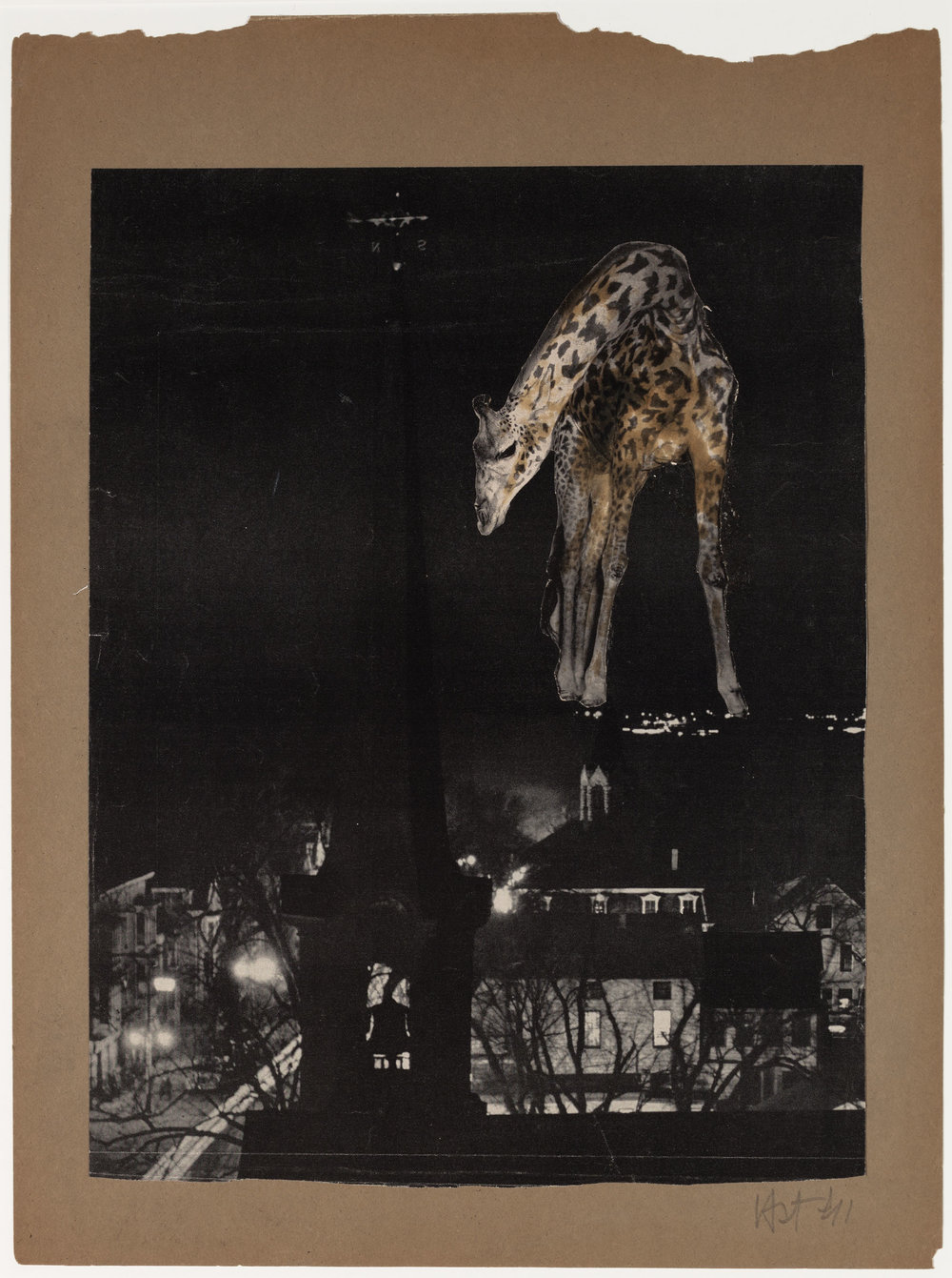 Hedda Sterne, Untitled, 1941, Collage, 16 in. x 12 7/8 in.