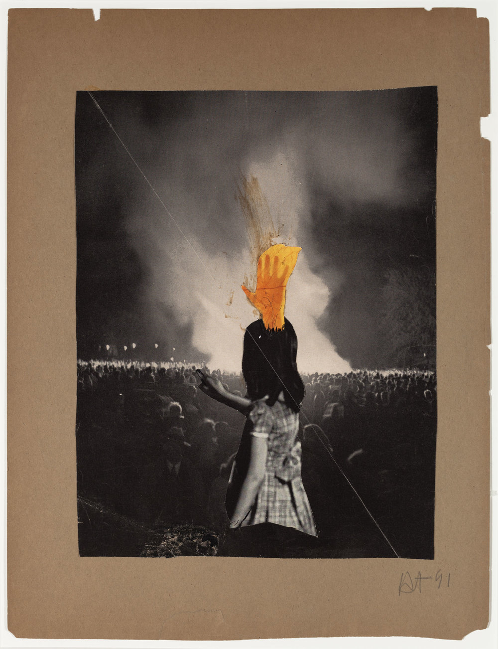 Hedda Sterne, Untitled, 1941, Collage, 15 1/2 in. x 11 7/8 in.