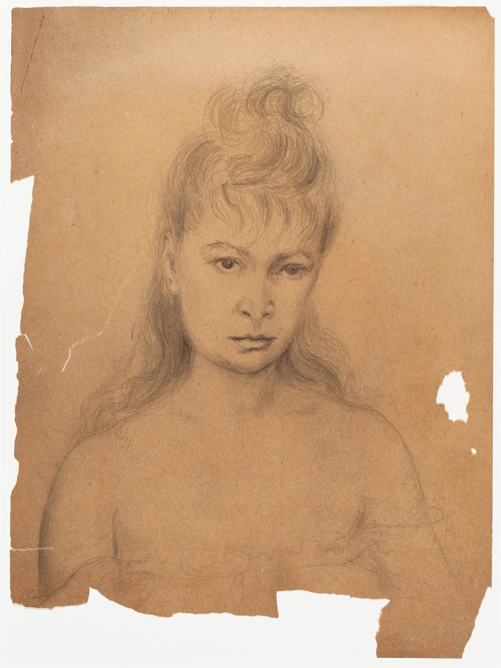 Hedda Sterne, Self-Portrait, c. 1940, Pencil on paper, 12 x 9 in.