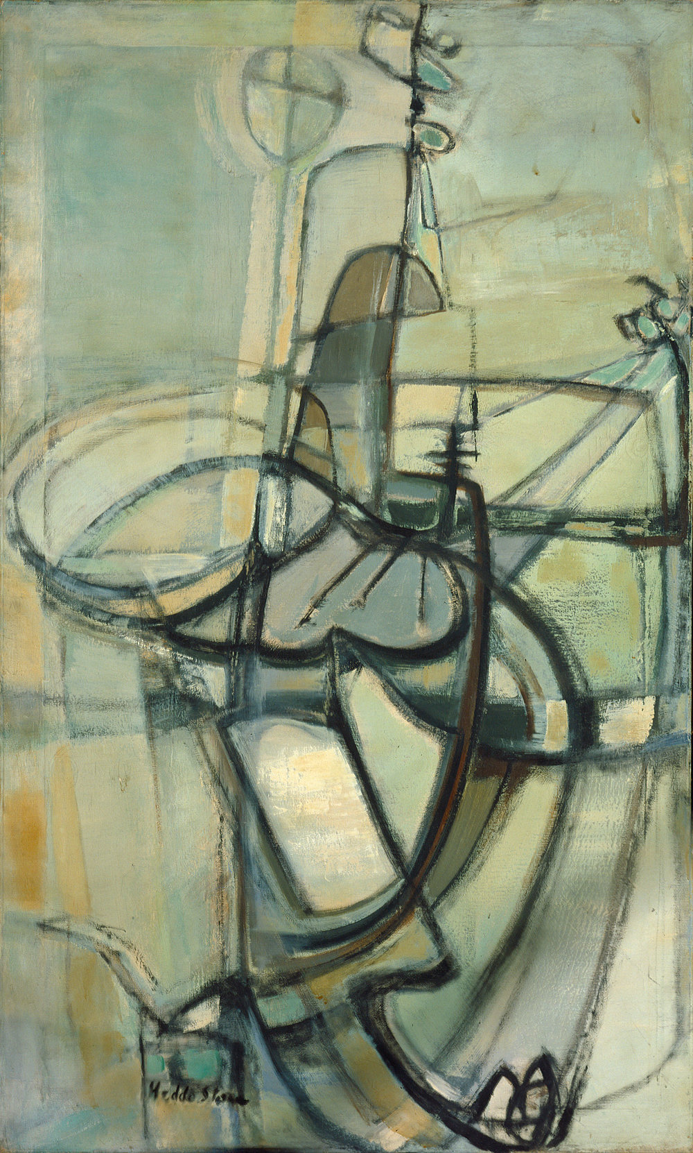 Hedda Sterne, #45, 1952-1953, Oil on canvas, 60 in. x 36 in.