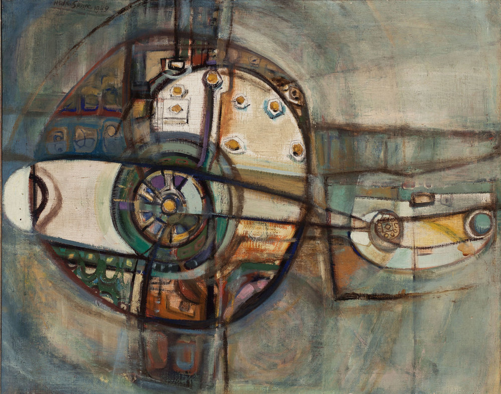 Hedda Sterne, Airport, 1949, Oil on canvas, 24 in. x 30 in