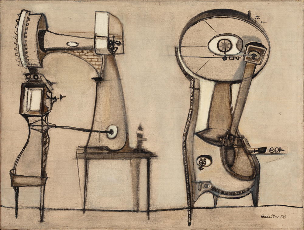 Hedda Sterne, Machine (Anthropograph No. 13), 1949, Oil on canvas, 30 in. x 40 in.