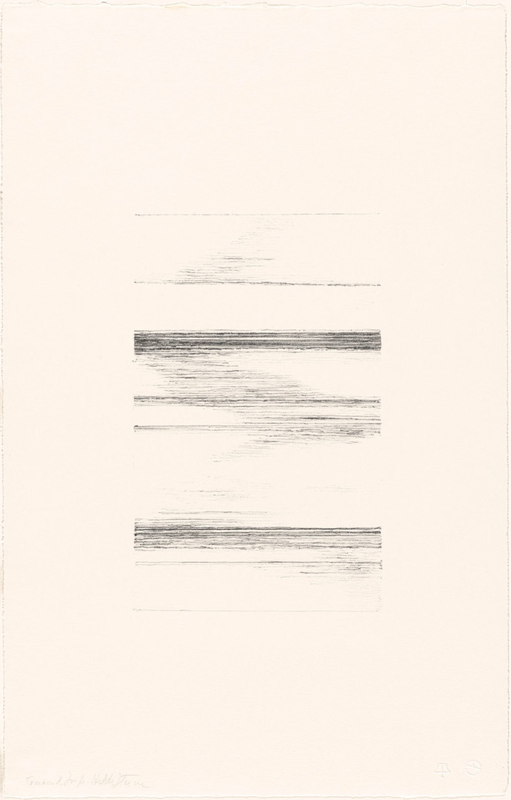 "Hedda Sterne, Untitled from ""The Vertical Horizontals"" suite, 1967, Lithograph (edition of 20), 21 3/4 in. x 14 in."