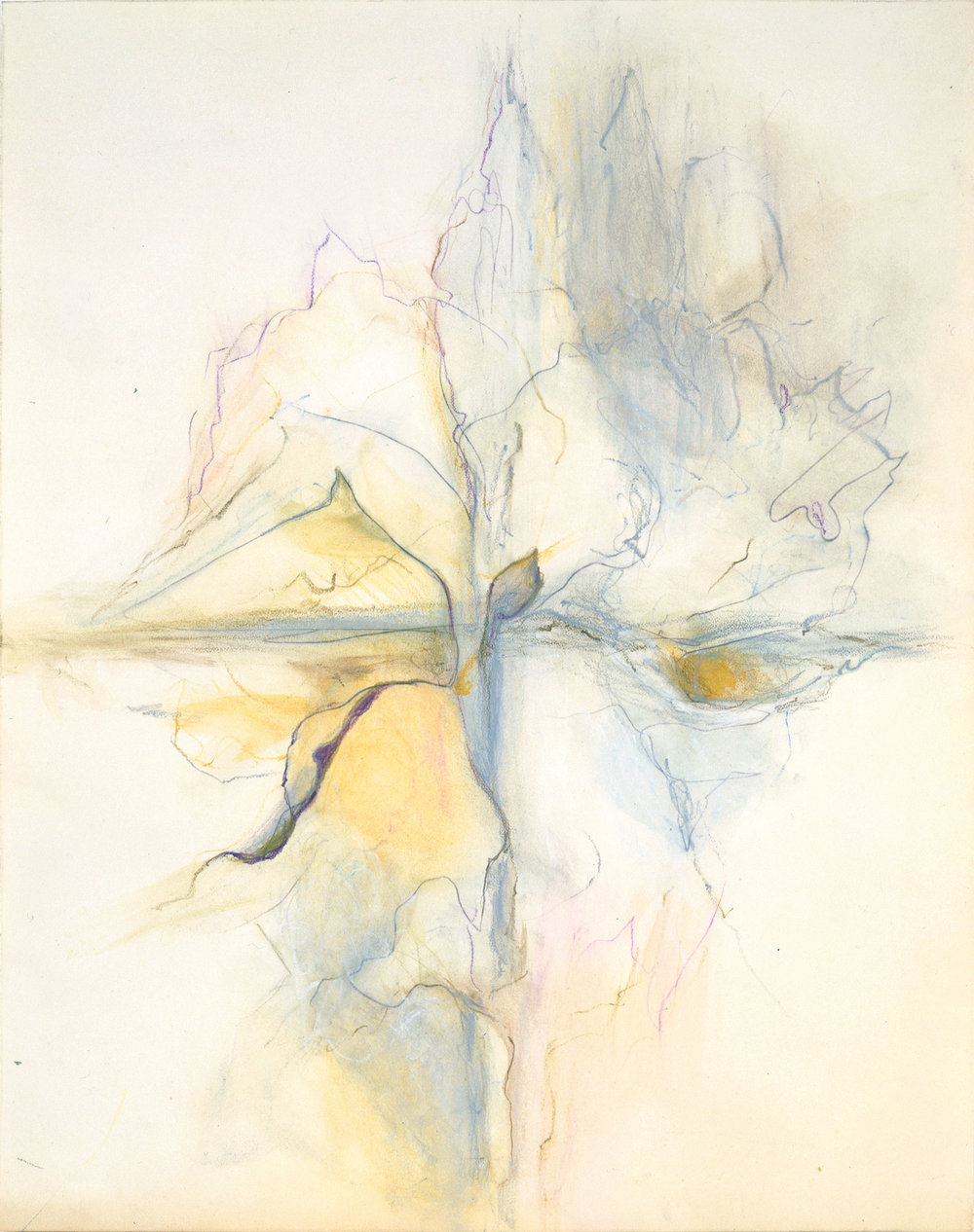 Hedda Sterne, Untitled, 1993, Colored pencil, pastel on paper, 14 1/2 in. x 11 1/2 in.
