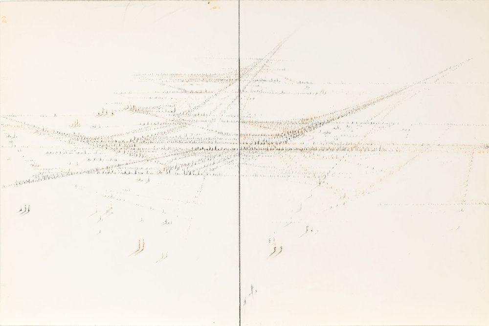 Hedda Sterne, Study for Signs, c. 1978-1980, Graphite, ink on paper, 14 1/2 in. x 21 7/8 in. (36.83 cm x 55.56 cm)