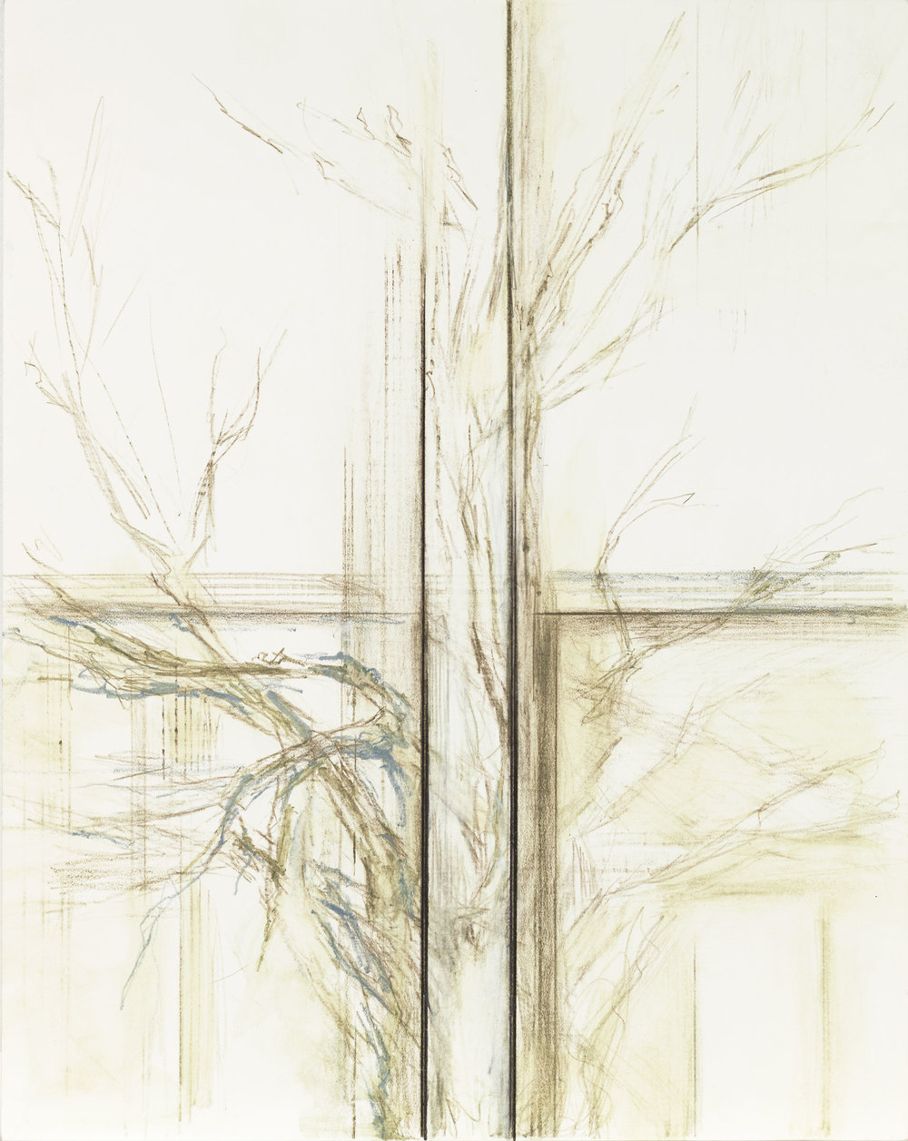 Hedda Sterne,  Untitled , 1994, Graphite, colored pencil on paper, 14 1/2 in. x 11 1/2 in. (36.83 cm x 29.21 cm)