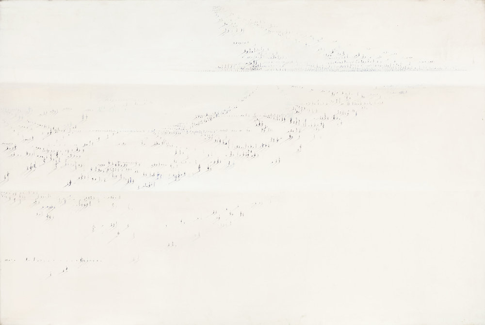 Hedda Sterne,Signs, 1980, Acrylic on canvas,40 in. x 60 in. (101.6 cm x 152.4 cm)