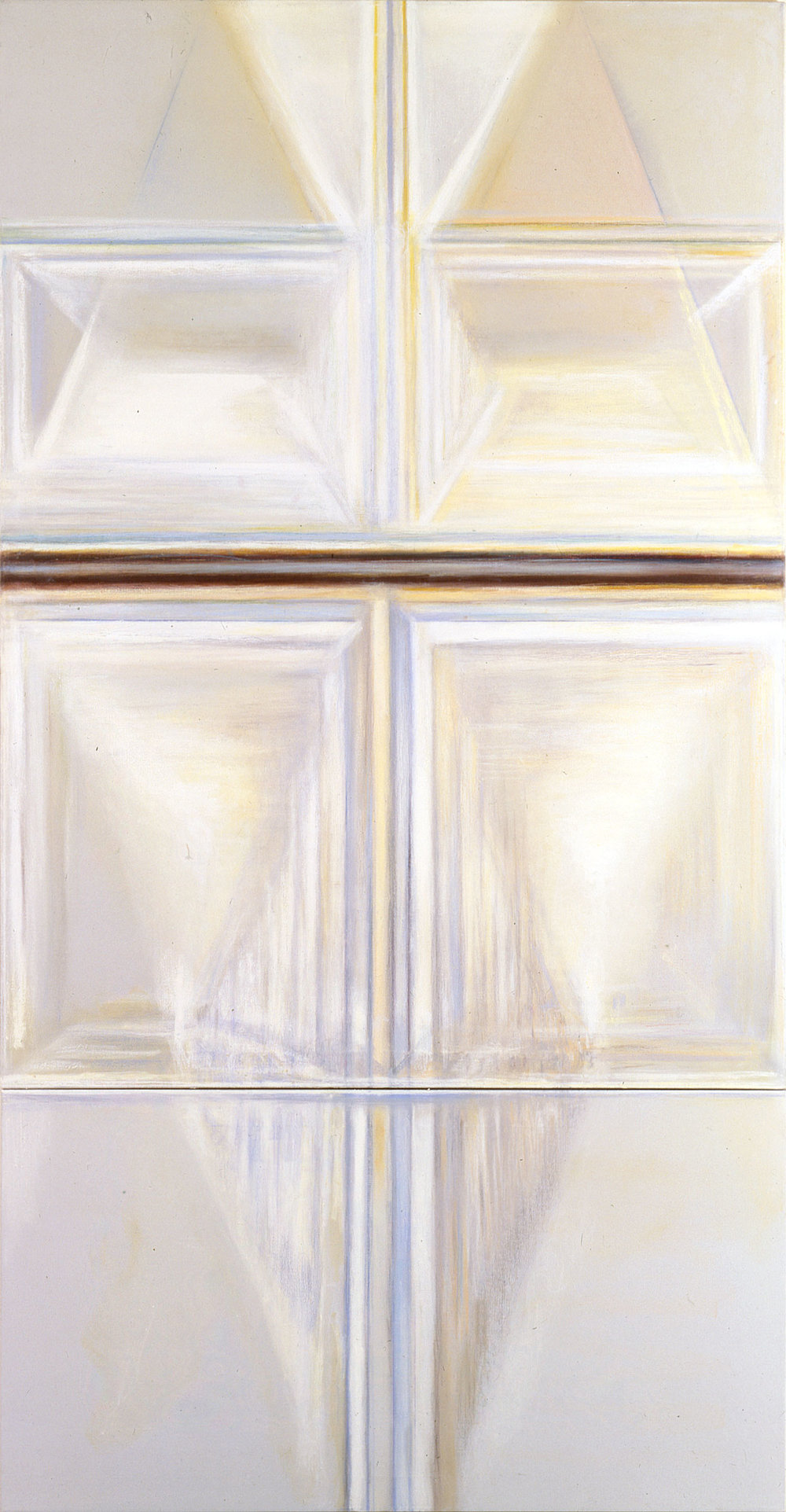 Hedda Sterne, Untitled #16, 1989, Oil on canvas, 100 1/4 x 51 3/4 in. (254.6 x 131.4 cm); Collection of Museum of Contemporary Art, San Diego; Gift of Deborah and David Guss, 1992.26