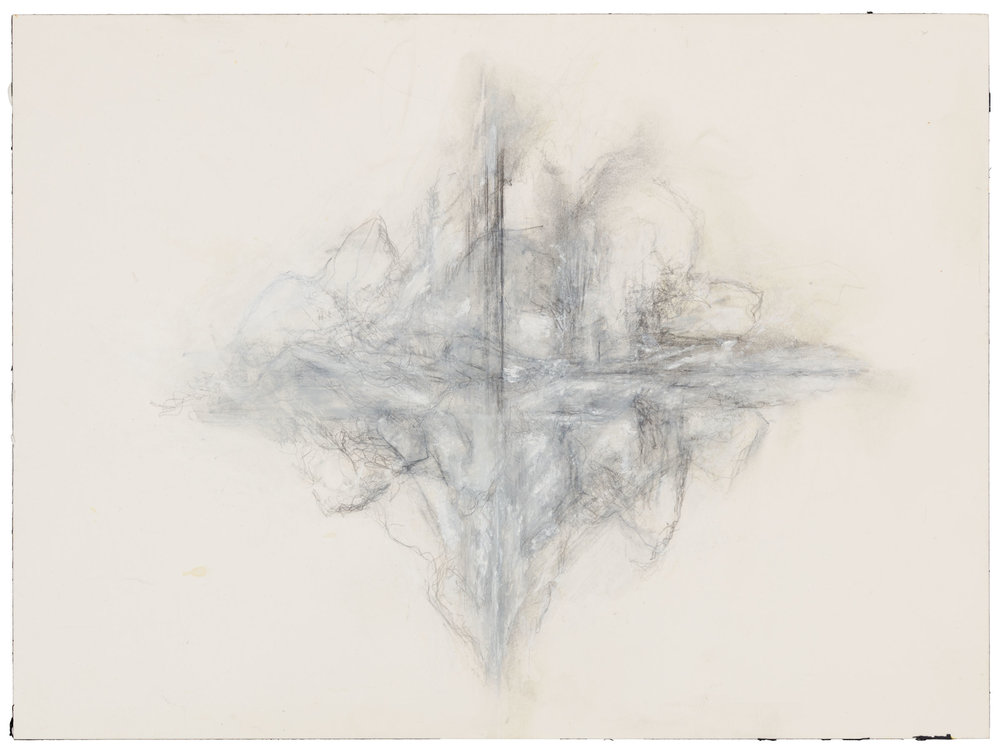 Hedda Sterne, Untitled (June 3, 1998), 1998, Mixed media on paper, 12 1/4 in. x 9 1/8 in. (31.12 cm x 23.18 cm)