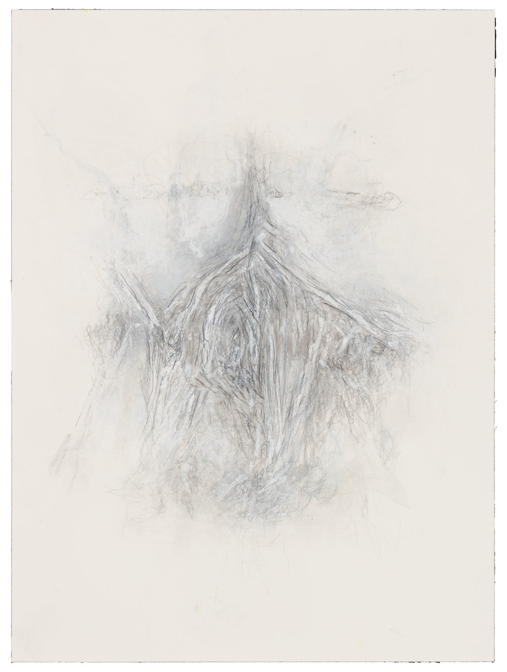 Hedda Sterne, Untitled (August 13, 2001), 2001, Mixed media on paper, 12 1/4 in. x 9 1/8 in. (31.12 cm x 23.18 cm)