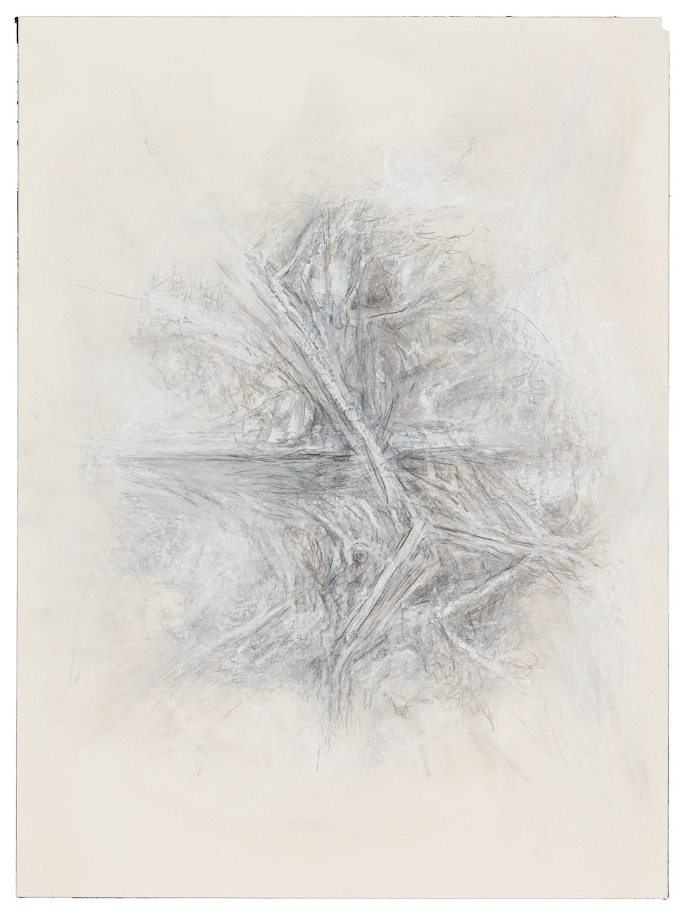 In the late 1990s, begins drawing exclusively, creating one of her most prolific bodies of work: drawings influenced and inspired by her changing field of vision.