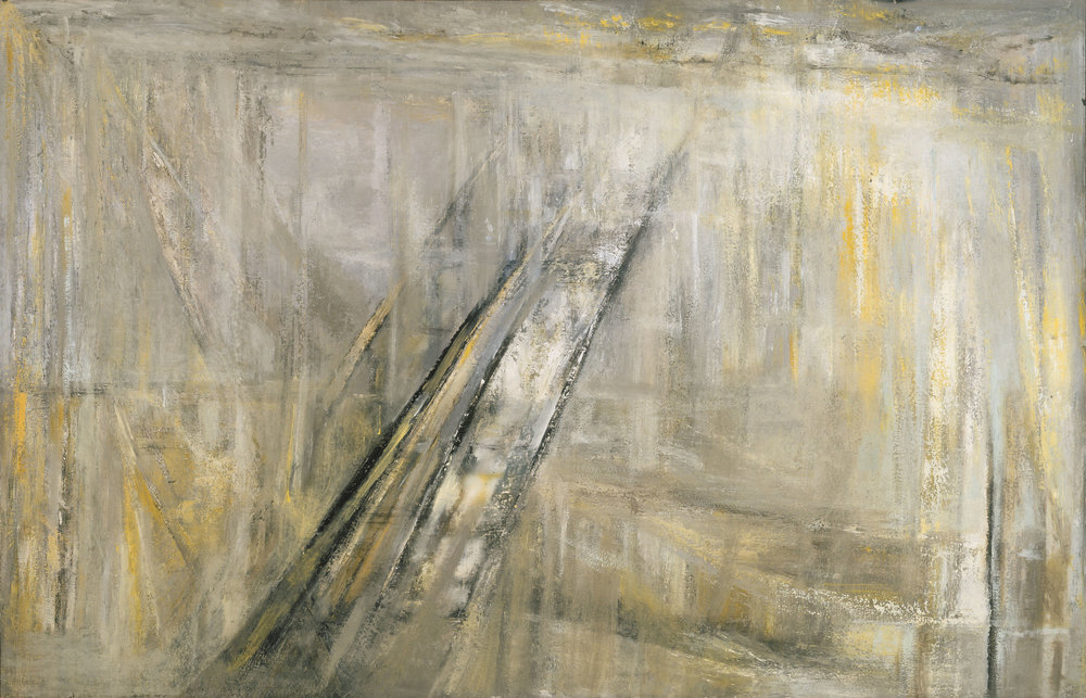 In 1956, drives cross-country, and soon begins a new series of work inspired by the journey: a meditation on the roads and horizons