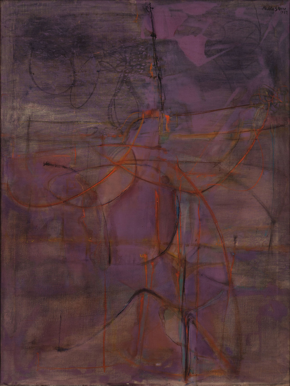 Hedda Sterne, Structure #IV, 1952, Oil on canvas, 39 3/4 in. x 29 3/4 in.