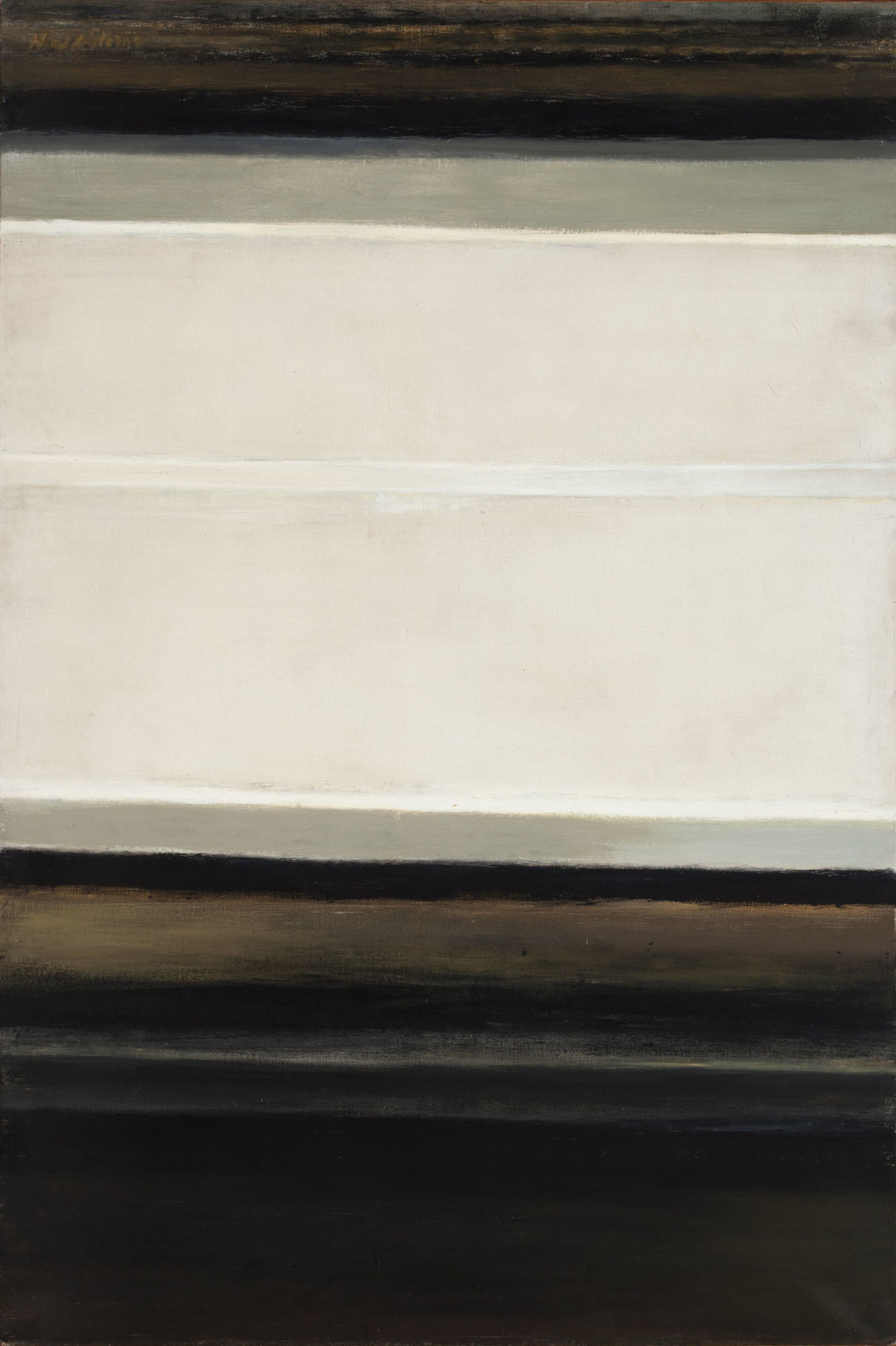 Hedda Sterne, Vertical-Horizontal #1, 1962, Oil on canvas, 60 in. x 40 in.