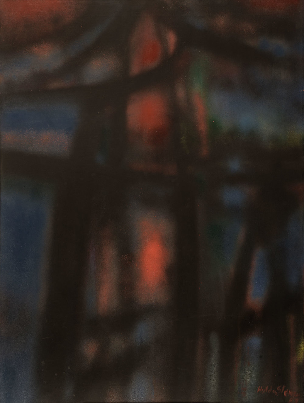 Hedda Sterne, New York No. 1 - 1957, 1957, Oil and spray paint on canvas, 76 5/8 in. x 51 1/4 in., Wadsworth Atheneum Museum of Art, Hartford, CT; Gift of Susan Morse Hilles, 1959.88