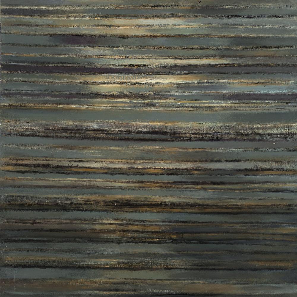Hedda Sterne,Utah Vertical Horizontal #3, 1958,70 in. x 70 in.
