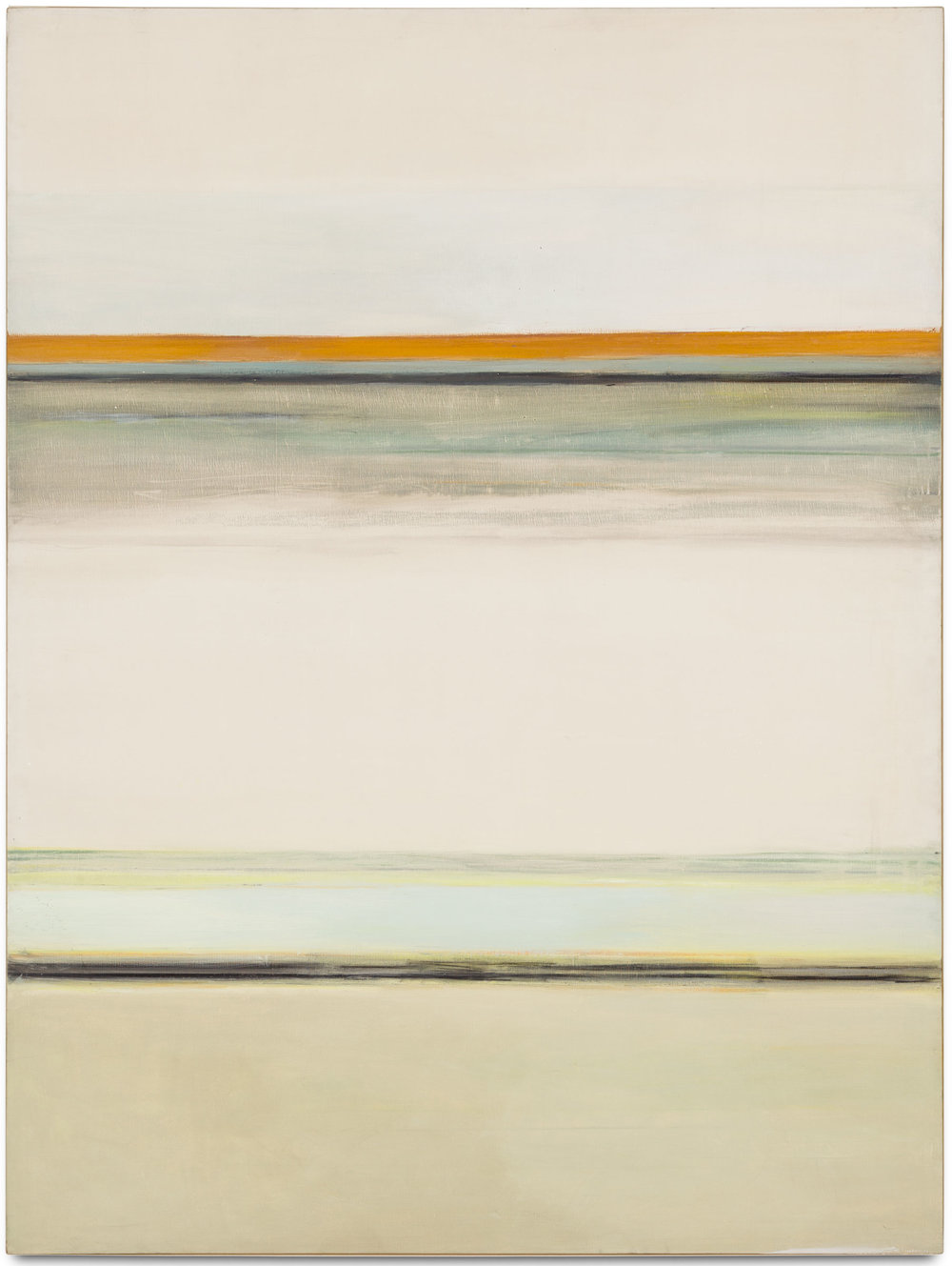 Hedda Sterne, Vertical Horizontal #1 1/2, 1963, Oil on canvas, 72 in. x 54 in.