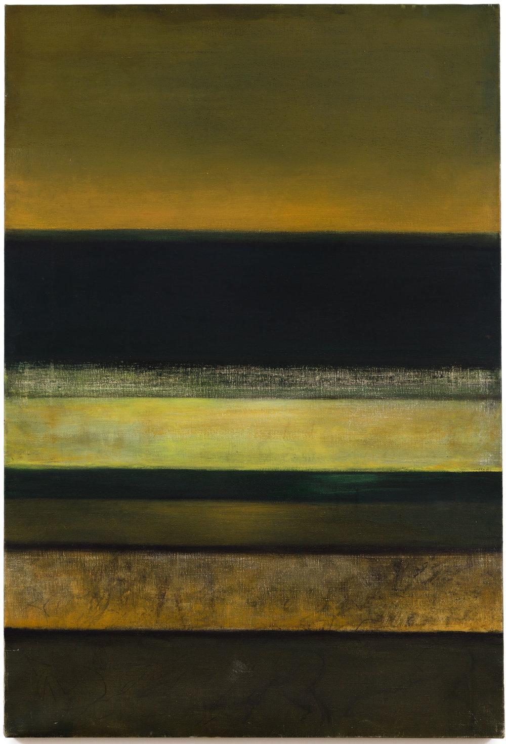 Hedda Sterne,Horizontal #3, 1965, 58 1/2 in. x 39 1/2 in.
