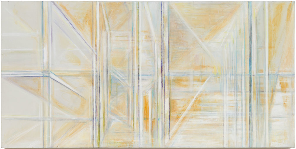 Hedda Sterne,  Untitled , c. 1991-1992, Oil and pastel on canvas, 40 in. x 80 in.