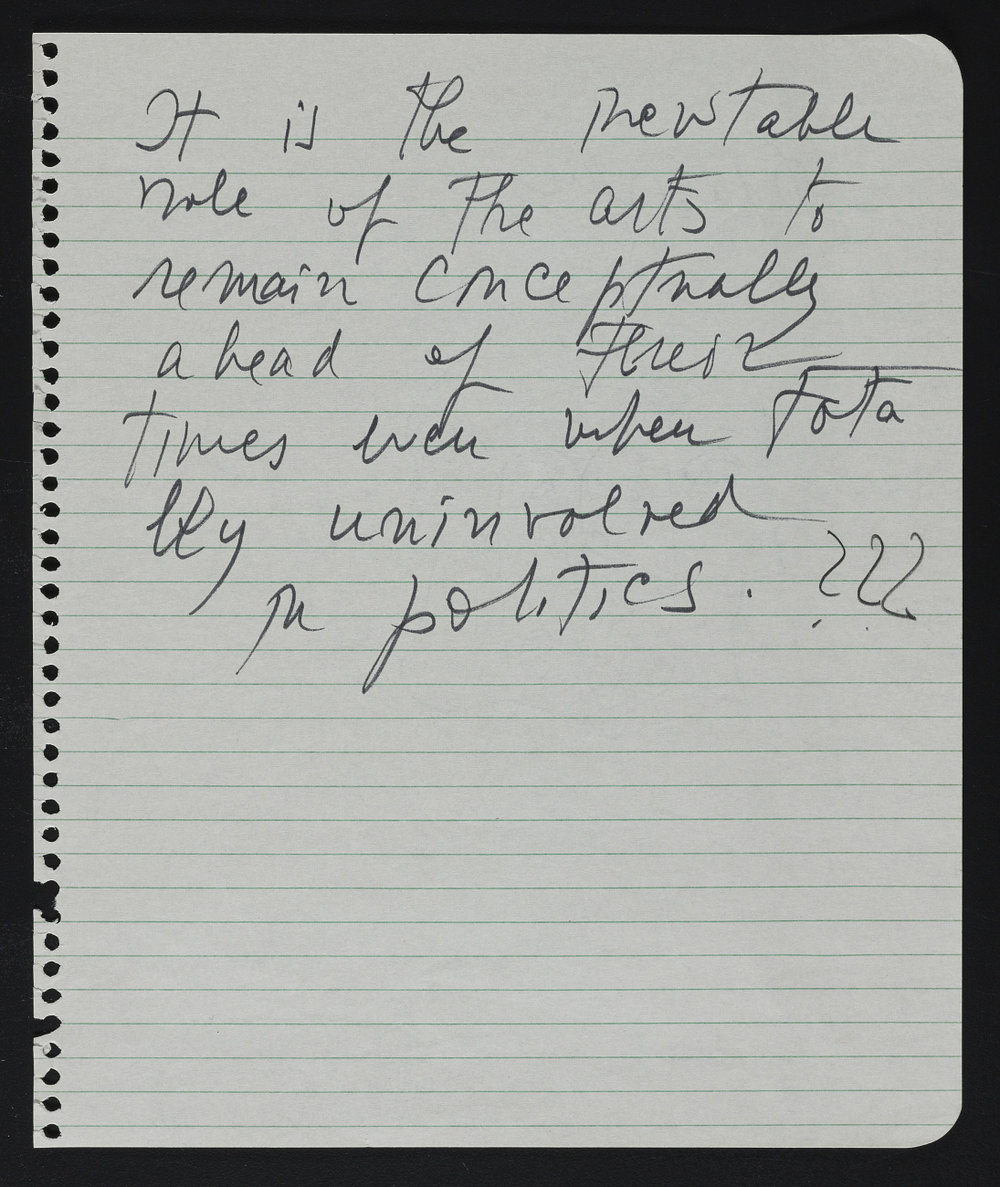 - Hedda Sterne, undated note from the Hedda Sterne papers, 1939-1977, Archives of American Art, Smithsonian Institution