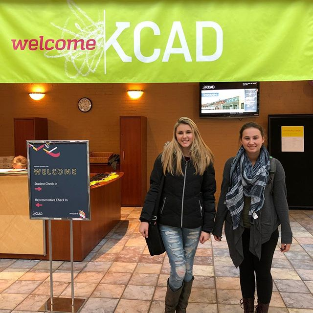 Today three KWoods students, Seniors Sydney Jones and Theresa Leffert and Junior Mia de la Iglesia (not pictured) attended National Portfolio Day at Kendall College of Art and Design in Grand Rapids. They met with college representatives from all over the country and received feedback on their art portfolios in preparation for applying to art colleges! #kwoodsdifference
