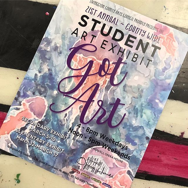Check out all the amazing student work (including over 30 KWoods students) now through Sunday at the Howell Opera House in the annual Livingston County student art show, Got Art! Times are 4 - 8 pm weekdays and 12 - 5 pm weekends! #kwoodsdifference #wearekwoods