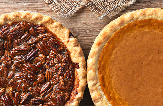 Gluten-Free Pies - We are excited to offer Gluten-Free Pies. Enjoy any of these flavors: Apple, Pumpkin, Pecan, Chocolate Cream and Coconut Cream.