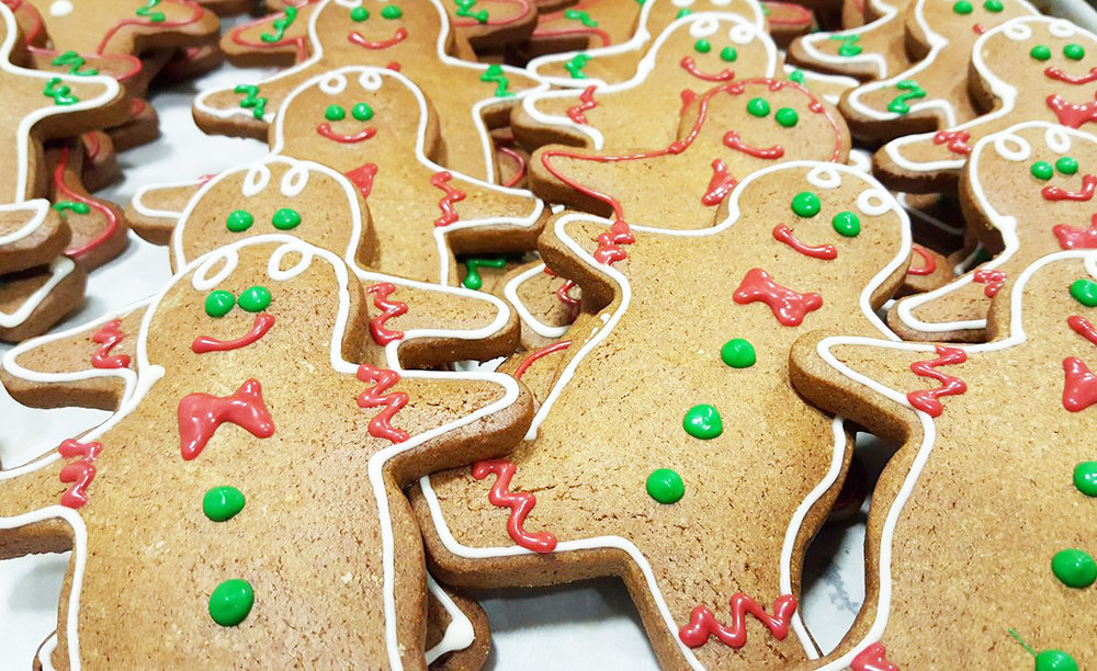 Decorate Your Own - Available in Gingerbread or Sugar Cookies! Includes six cookies, icing and sprinkles.
