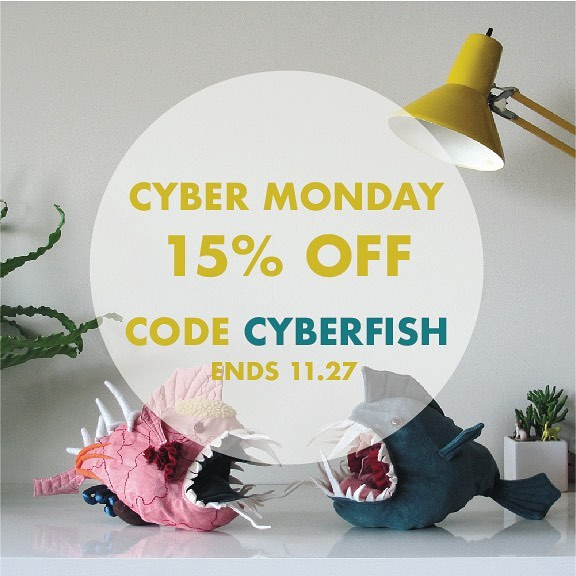 Don't let this fish get away! Use code CYBERFISH for 15% off Morris until 11.27 #cybermonday