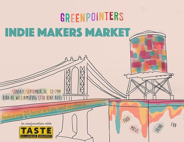 Greenpointers Indie Maker's Market is just 2 weeks away! Catch Morris and lot of other cool makers there 🎣 #morristhefish #greenpoint #greenpointers #indiemakers #fishpun