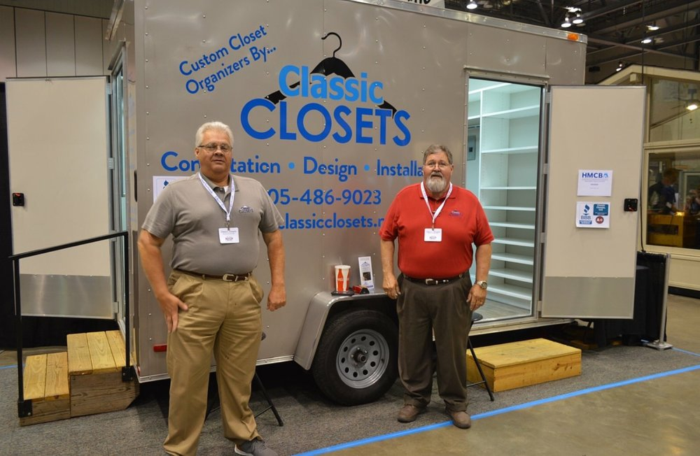 Give us a call or fill out the consultation request form on our website at www.classicclosets.net. You will then be directed to the proper salesman for your area. We currently have 4 salesmen that cover different territories across Alabama, Mississippi, and Tennessee.   Pictured here are Barry Tidwell, owner of Classic Closets (see left) and Jim Jones, our North Alabama salesman (see right).